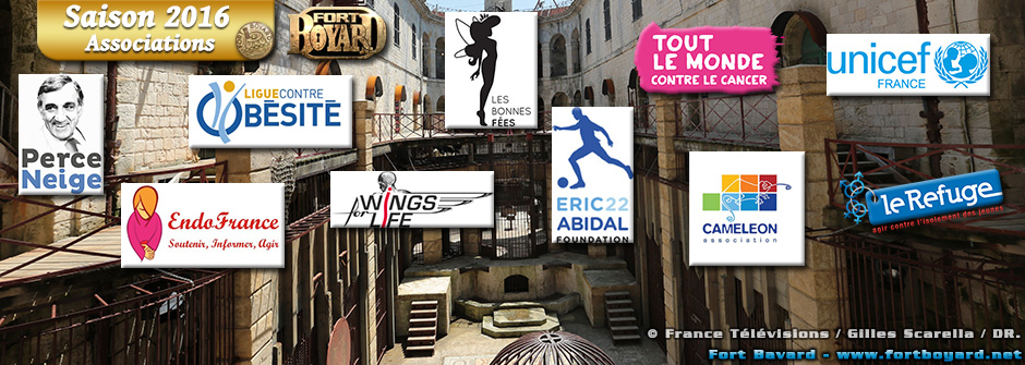 Fort Boyard 2016 : les associations
