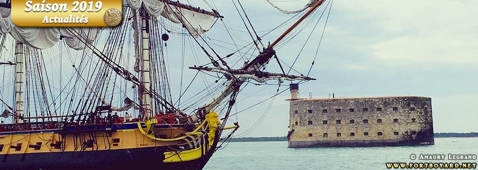 L'Hermione mouillera devant Fort Boyard le 2 juillet 2019 pour célébrer les 30 ans du jeu!